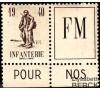 France - Franchise militaire - n°10A - Infanterie - Type Dunoyer de Segonzac.